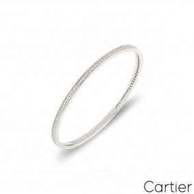 CartierWhite Gold Diamond Bangle